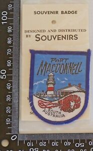 VINTAGE-PORT-MACDONNELL-SA-EMBROIDERED-SOUVENIR-PATCH-WOVEN-CLOTH-SEW-ON-BADGE
