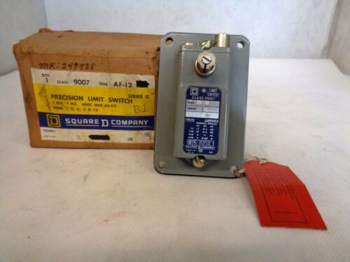 NEW SQUARE D 9007-AF12 LIMIT SWITCH NO EXTRA PARTS