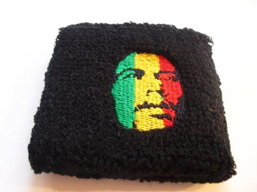 -New!! Rasta Green,Yellow,/&Red Bob Marley Portrait One Wristband Sweatband 1 pc