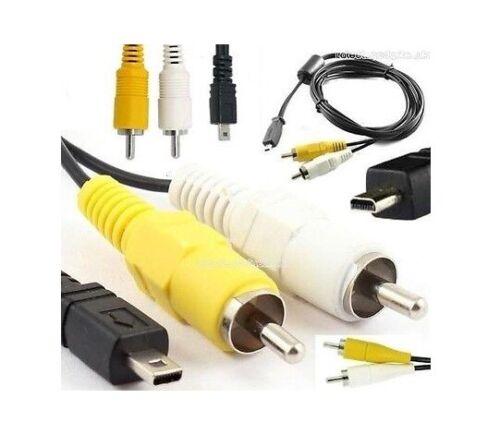 8-Pin Video//Audio//AV//Phono Camera Cable For Vivitar ViviCam 5195//5199//5199//6320