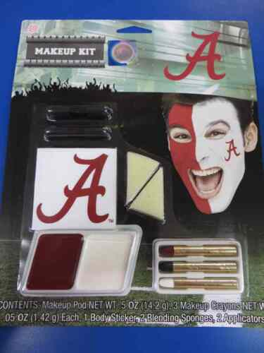 Alabama Crimson Tide Makeup Kit NCAA Football College Game Day Costume Accessory