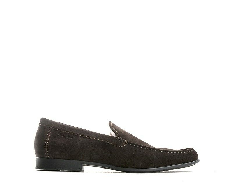 shoes STONEFLY Man Loafers BROWN Leather natural,Suede 104701-410MA