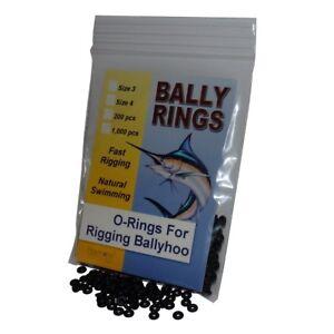 Bally Rings - O-Ring Grommets for Rigging Ballyhoo (Size #4, 1,000 orings)