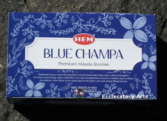 Hem Blue Champa Incense Sticks 12 x 15 gram, 180 grams total NEW {:-)