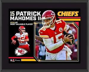 "Patrick Mahomes Kansas City Chiefs 2018 NFL MVP 10.5"" x 13"" Sublimated Plaque"