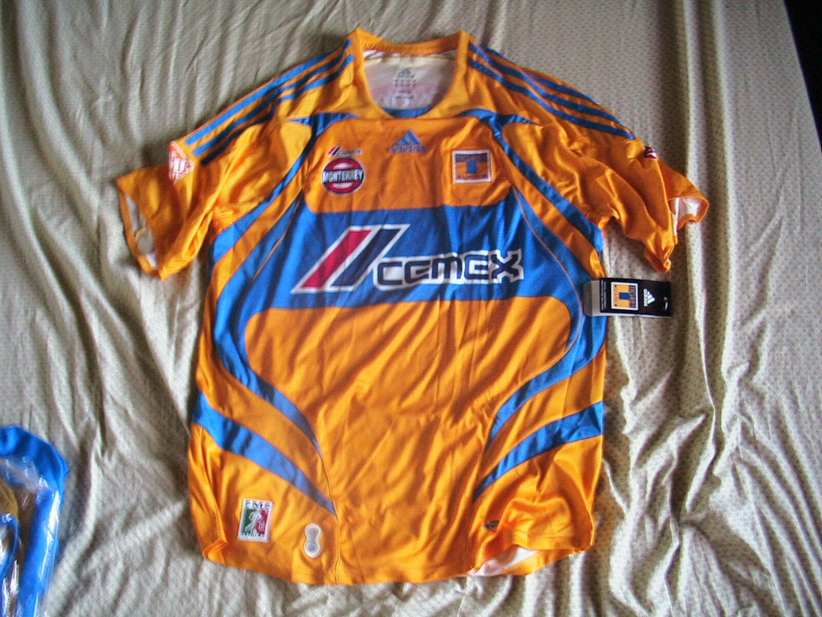 Team Yellow Tigres Mens Official Soccer Jersey Adidas Talla L Local 2008 (Último 1)