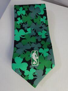 St-Patricks-Day-SHAMROCK-Basketball-NBA-Logo-NECKTIE-Tie-RM-STYLE-Ralph-Marlin