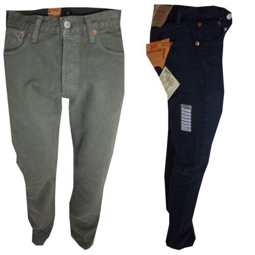 Jeans Levi's 27 Denim Nuovi Cotone 31 Pantaloni Blu Uomo Verde W Levis 28 501 BczWzq5T