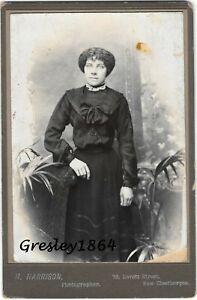 Cleethorpes-H-Harrison-Lovett-Street-Mounted-Photograph-of-Edwardian-Lady