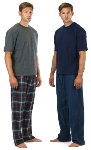 Pyjama Set ~ Grey or Navy Mens Cotton Rich Lounge