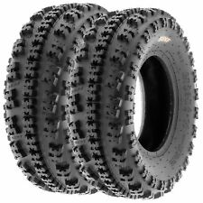 Pair of 2, 22x7-11 22x7x11 Quad ATV All Terrain AT 6 Ply Tires A027 by SunF