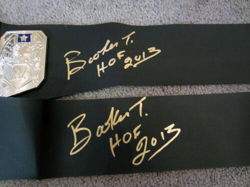 BOOKER T Autographed SIGNED WWE US United States Title Belt New w//COA PROOF HOF