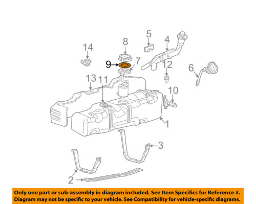 FORD OEM 99-03 F-350 Super Duty Fuel System-Fuel Pump Gasket F75Z9417BB