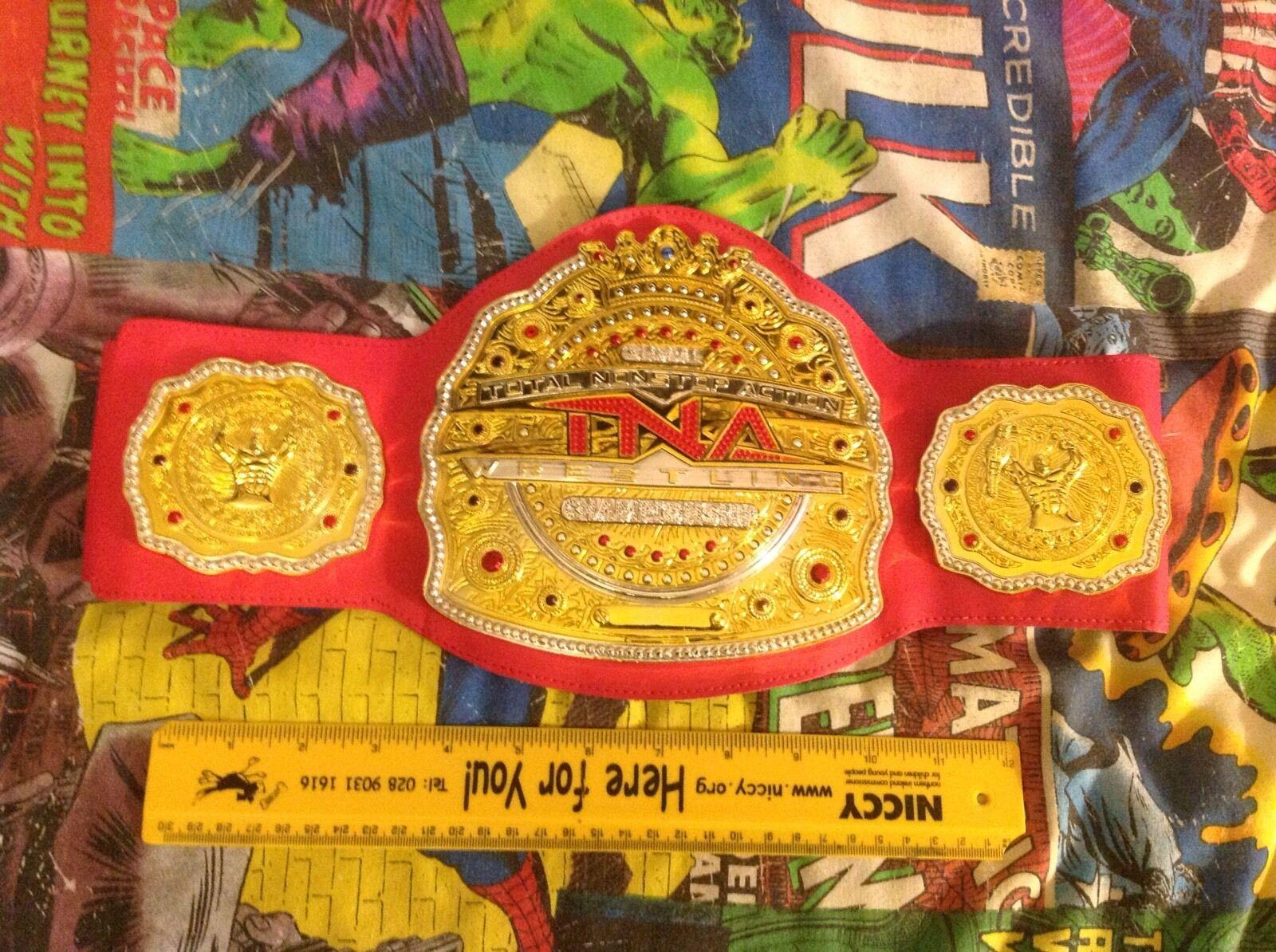 TNA Global Championship Replica Belt 2010 Jakks Pacific - Red - Very Rare