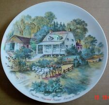 Bareuther Bavaria Germany Wall Plate AMERICAN HOMESTEAD SUMMER CURRIER & IVES