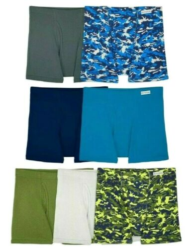 Details about  /Fruit of the Loom Boys 7 Boxer Briefs Underwear S M