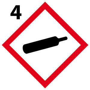 Gaz 4 Stickers Autocollants Danger Interdit Obligatoire [10cm] Ghs4 Doux Et Doux
