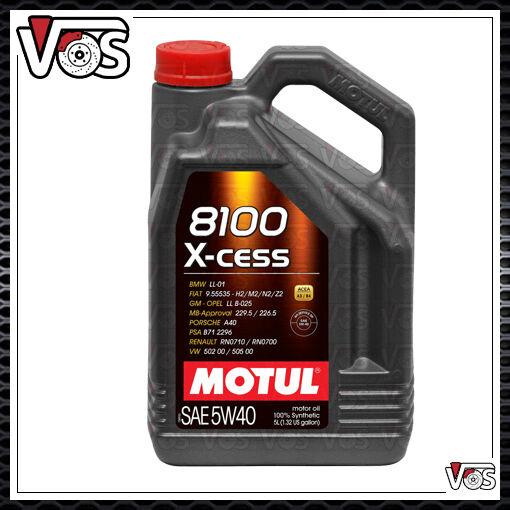 OLIO MOTORE MOTUL 8100 XCESS 5W40 ACEA A3-B4 5 LITRI PRODOTTO ORIGINALE .