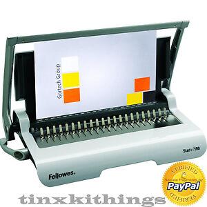 Image Is Loading Comb Binding Binder Machine Doent Hand Book Journal