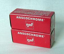 LOT of 2 gaf ANSCOCHROME 120 6 x 9 COLOR FILM for SLIDES. ASA 50.