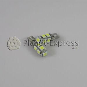 2 x Bombillas 9 LED SMD CANBUS T10 W5W Coche Posicion, interior... Blanco Xenon