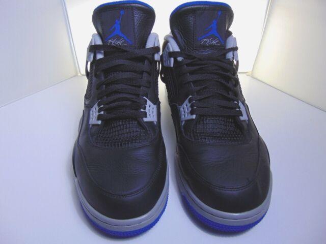 2fed3b56992 Nike Air Jordan 4 IV Retro Alternate Motorsport Black Blue 308497-006 Size  16 for sale online | eBay