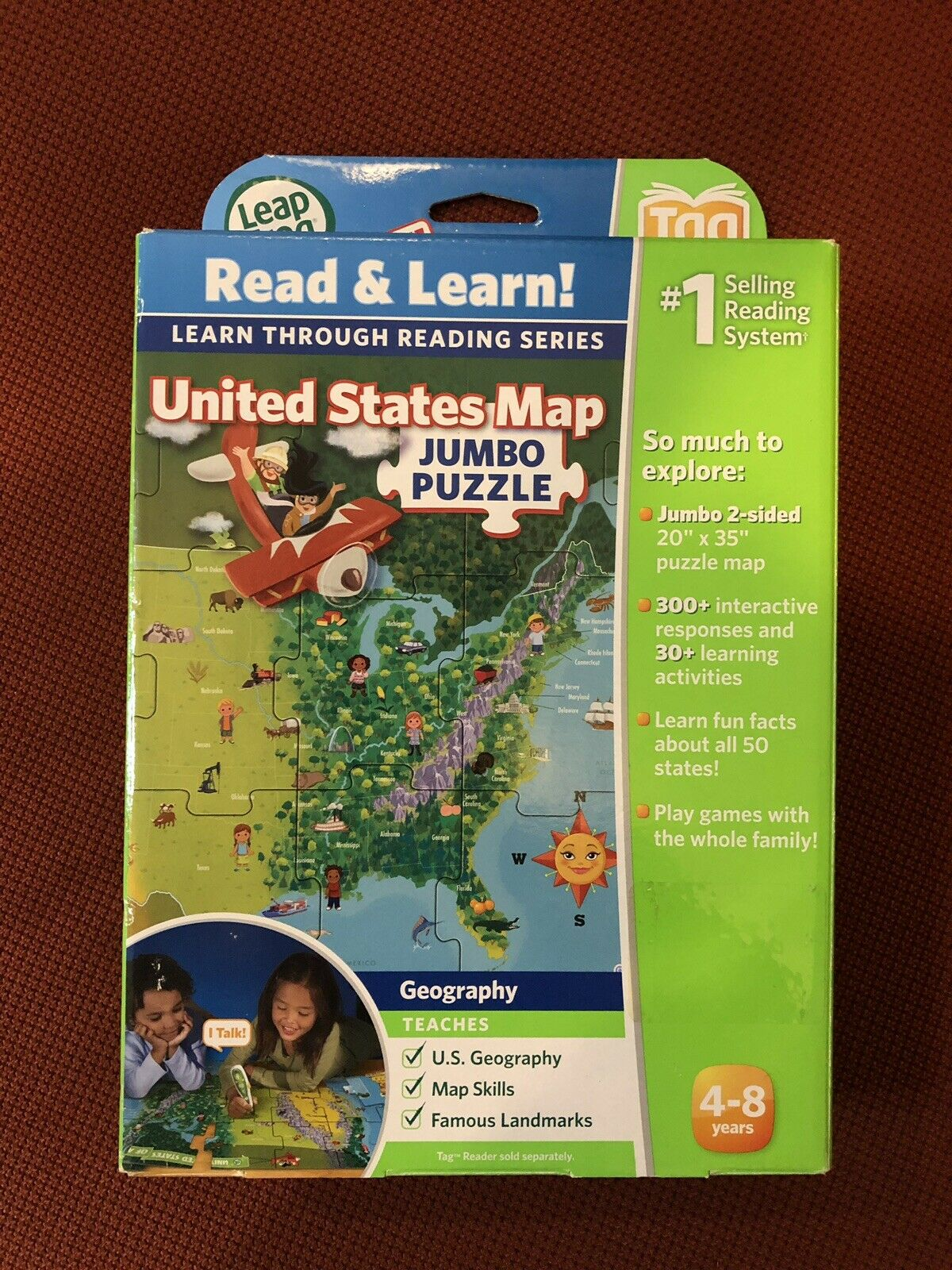 New LeapFrog LeapReader Interactive United States Map (works with ...