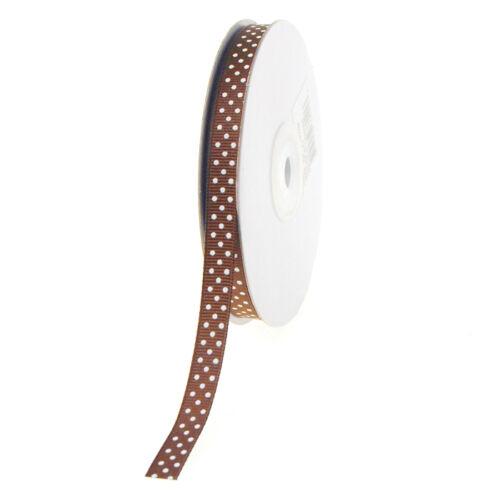 25-yard Swiss Dots Grosgrain Ribbon 3//8-inch
