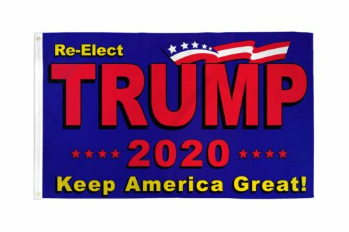 RE-ELECT TRUMP 2020 3/' x 5/' FLAG BANNER KEEP AMERICA GREAT PRESIDENT AGAIN USA