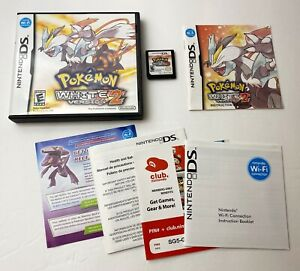 Nintendo-DS-Pokemon-White-Version-2-COMPLETE-Clean-Tested-amp-Works-SAME-DAY-SHIP