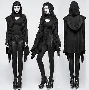 Nugoth Jacke Kapuze Details Löcher Rave M Zu Punk Hoodie 037 Mantel Gothic Asymetri Witchy kXuZiP
