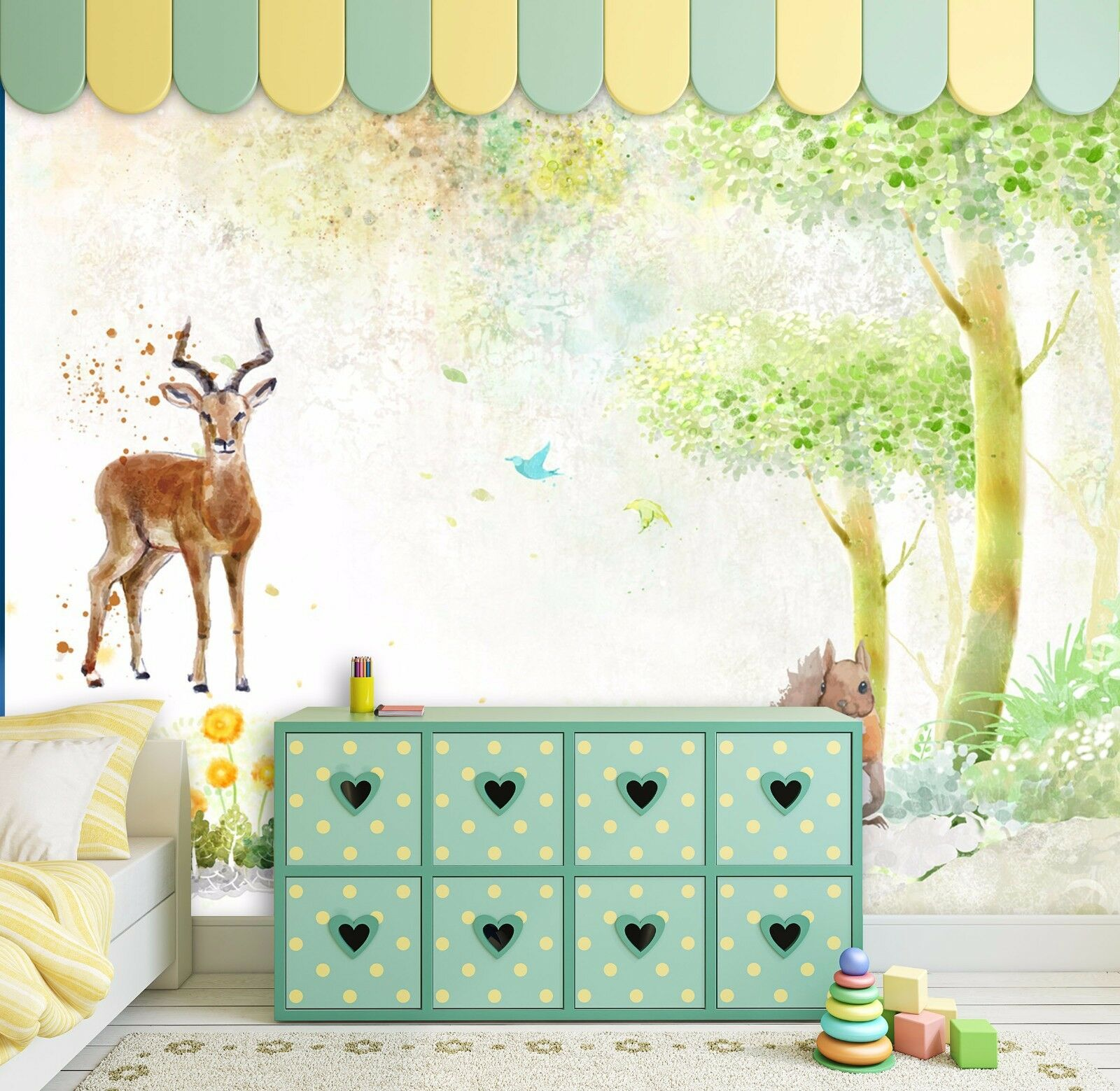 3D Cute Animals 743 Wall Paper Wall Print Decal Wall Deco Indoor AJ Wall Paper