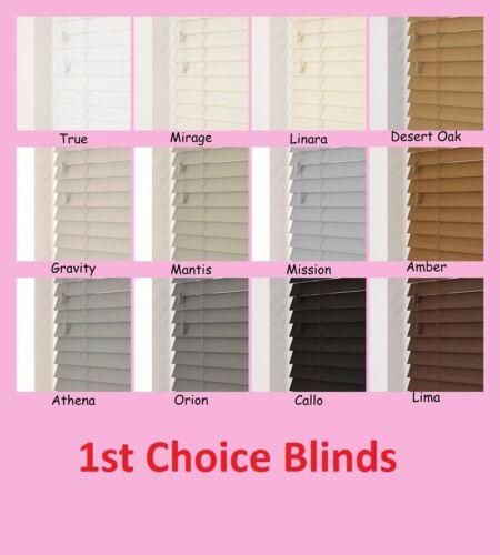 NEW Made to Measure Faux Wood Light Oak Venetian Window Blind Plastic 50mm Slats