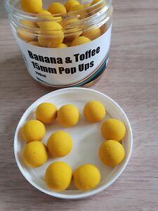 Mistral Banana & Caramel Pop-ups 15 Mm échantillon X 10 Appâts-afficher Le Titre D'origine