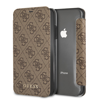 IPhone XR CG MOBILE GUESS CHARMS COLLECTION Brown Book Case Flip Cover Luxury   eBay