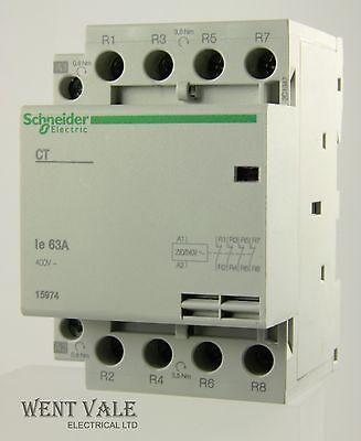 4-pole installation NC A9C20869 Contactor NO x3 230-240VAC 63A DIN SCHNEIDER