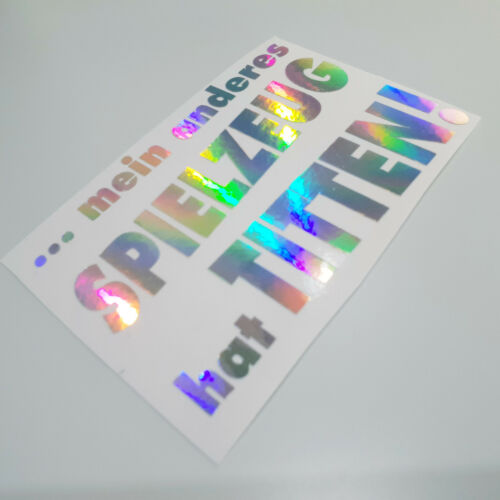 Spielzeug Titten Auto Aufkleber Tuning Rainbow Effekt Hologramm Oilslick Shocker
