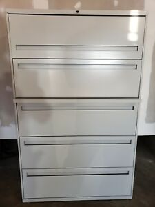 Hon 800 Series Five Drawer Lateral File 895ll 89192142729 Ebay