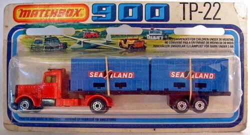 Superfast tp22 double conteneur camion rare d 'bleue Conteneur Top Dans neuf dans sa boîte