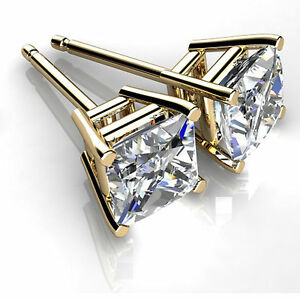 2-00-ct-Diamond-Earring-Stud-14K-Yellow-Gold-VVS1-D-Princess-Cut-for-Women-5054
