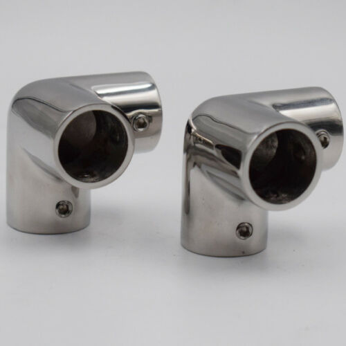 """2PCS 316 Stainless Steel Rail 3 Way Corner for 7//8/"""" Tubing Boat Fitting Handrail"""