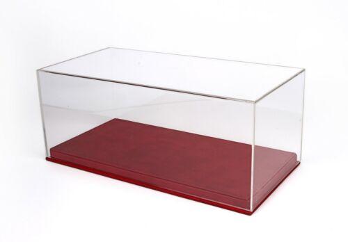 Vetrina Display Box Base In Pelle Rossa Cm 32.5x16.5x13.5  BBR 1:18 VET1804A1