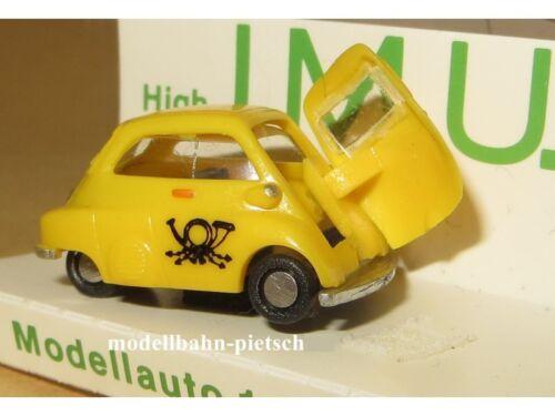 IMU 03201 POST BMW Isetta 1:87 NUOVO CONFEZIONE ORIGINALE i.m.u.