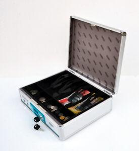 New Portable & Lockable Cash Drawer Type Aluiminium Cash Register Box (#B598)