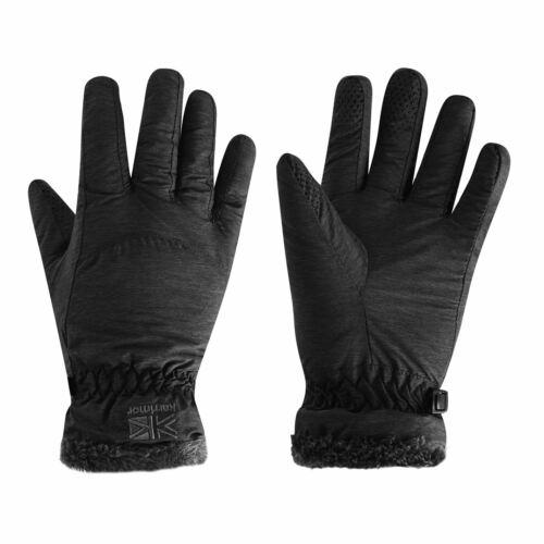 Karrimor Trail Gloves Ladies Walking Warm Stamp Faux Fur Silicone Knitwear