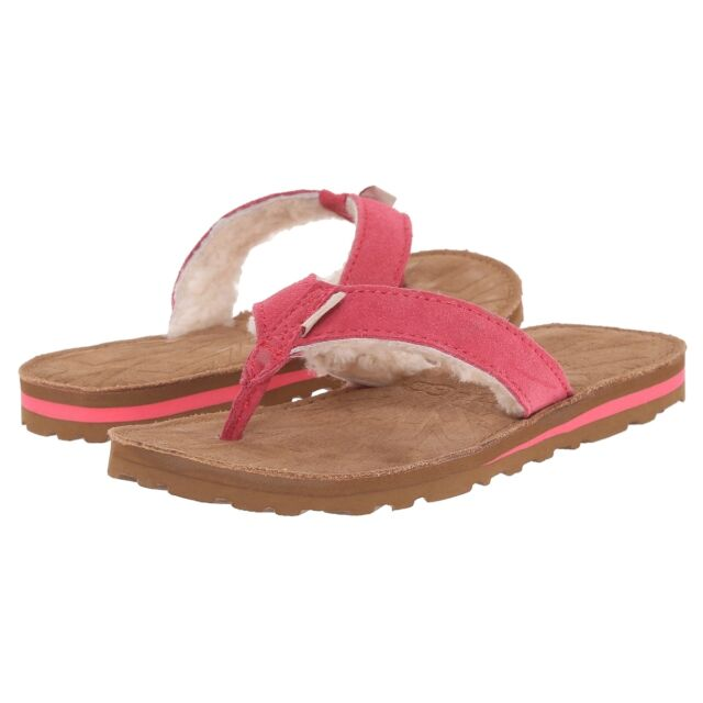 d0cf8000273 UGG Girls Shoes Tasmina Flip Flops Sunset Red 5