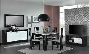 Details zu Wohnzimmermöbel-Wohnzimmerset Farbe: Schwarz/Weiß Hochglanz