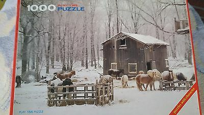 """Play Time Puzzle 1000 Teile """"Horses in the snow, U.S.A."""""""