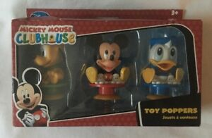 Disney-Store-Mickey-Mouse-Clubhouse-Toy-Poppers-Mickey-Donald-amp-Pluto