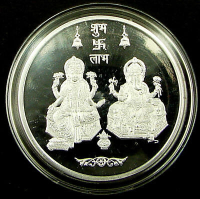 Jewellery & Watches Other Fine Jewellery Orderly 20 Gms 999 Kundan Nabl Certified Sterling Silver Lakshmi Ganesh Ji Round Coin